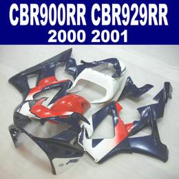 7 Gifts for HONDA CBR900RR fairing kit CBR929 2000 2001 blue red white CBR 929 RR CBR929RR fairings set HB13