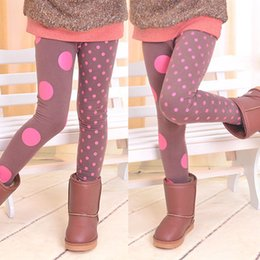 Wholesale Children Toddler Baby Girls Polka Dot Wool Cotton Blend Pencil Pants Capris Skinny Trouser Clothing for Winter Boots Decor