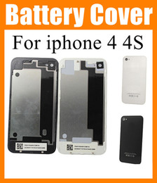 Cell Phone Housings for iphone 4 4G iphone 4s Back Cover Battery Housing Door case Replacement iphone part Black & White High quality SNP001