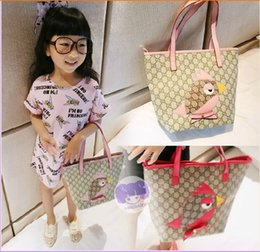 Wholesale New Baby Girls Fashion Handbags Korean Lovely Baby Package Hello Kitty Bird Cute Cartoon Shoulder Pack Pu New Design Kids Shopping Bags