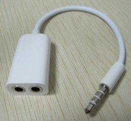 Wholesale Fashion Hot mm Double Jack Headphone Splitter For iPod iPhone S iPad2 Digital Audio Cables Earphone Splitter
