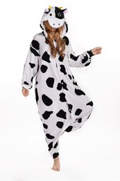 Wholesale Hot Selling Cheap Dairy Cattle Anime Pyjamas Cosplay Costume Adult Dress Sleepwear Halloween S M L XL