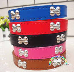 Goods For Pets Wholesale Bone Collar Width 1.5cm Leather Collars For Dogs Puppy Chihuahua Collar