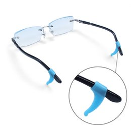 Glasses ear grip Anti-Slip Soft Silicone Temple Hook Tip Glasses Spectacles Ear Grip Holder free shiipping