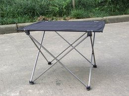 Wholesale Waterproof Portable Foldable Nylon Table Desk Outdoor Camping Picnic Ultra light Folding Table Grey order lt no track