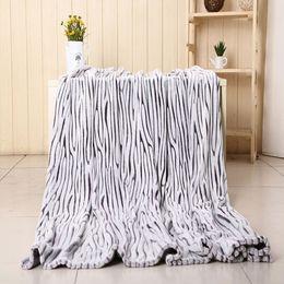 Wholesale Home Textile Blanket cm Thickened Flannel Blanket fleece Zebra Cobertor Embossed Cobertores Cama Casal Cobertores Adultos