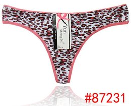 2015 New leopard cotton thong jeans g-string Komfortable Baumwolle Tanga cute t-back lady panties sexy lingerie hot intimate underpants