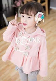 Autumn Winter Children Coats Pure Cotton Flower Girl Hoodies Fashion Kids Sweatshirts Hoody Topwear Baby Coat windbreaker free shipping