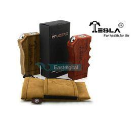 Wholesale 100 Original Tesla Invader II Wood Box Mod Invader Invader V2 Fit For Kanger Subtank Nano Subtank Mini VS Sigelei w Sigelei mini IPV3
