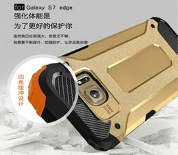 Wholesale Dual Layer Hybrid Armor Ballistic TPU PC Aluminum Hard Case Slim Tough For Samsung Galaxy NOTE7 NOTE C5 S7 S6 Edge Plus LG G5 Skin Cover