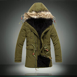 Men Korean version Casual Cotton Parka Solid Color Tide Male Coat Outdoor Sport Warm Army green Parka Thicken Long Jacket