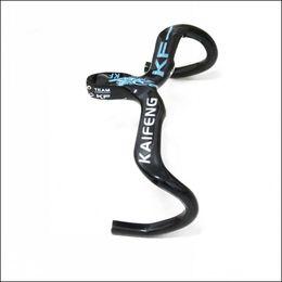 Compra Online Fibra de carbono bicicleta-nuevo de alta calidad KAIFENG de carbono manillar de agarre del manillar de la bicicleta ciclismo de carretera Doble el manillar de carbono accesorios de la bicicleta KF-06
