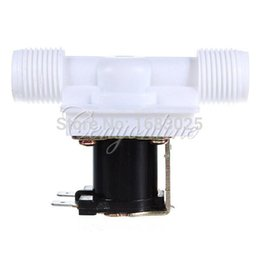 Wholesale 1 for DC V Electric Solenoid Valve N C Water Inlet Flow Switch Normally Closed