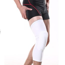 Wholesale Honeycomb Pad Crashproof Antislip GYM Basketball Leg Knee Long Sleeve Protector Gear Posture Injury Guard Sweat Absorbent QCT