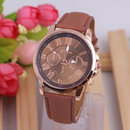 Wholesale Cheap Price Wrist Watches Stainless Steel Leather Watches Multi colors Solid Sports Watches for Ladies Best Gifts w