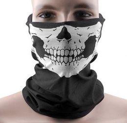 Wholesale 2015 Skull Design Multi Function Bandana Motorcycle Biker Face Mask Neck Tube Scarf