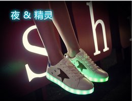 Wholesale 2016 LED Lighted Cycling Shoes USB Charging light up Sneakers lace up Men women Casual Running Shoes