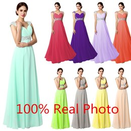 Real Photo In Stock Evening Party Wear Mint Sage Fuchsia Blush Chiffon Beaded Sweetheart Lace-up Prom Dresses Cheap Gown