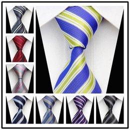 CON65 boda para hombre Lazos Rosa Negro Azul Amarillo nuevo de la manera corbata tejida clásica de seda formal del partido informal novio de punto Gravata desde lazo formal de color rosa proveedores