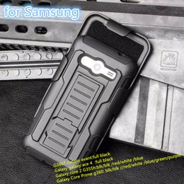Wholesale Robot armor Case PC TPU Defender cover with Front Screen Belt Clip Packing case for Samsung Galaxy avant G386T core G355h robot case