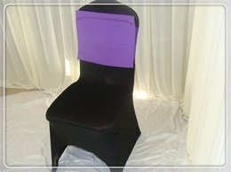 Wholesale chair back cushion poly and spandex double desk spandex chair bows