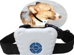Free shipping 300pcs pack OPP bag Adjustable stretch  Ultrasonic Anti Bark Bark Stop Control Barking Dog Collar