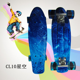 Wholesale Retro Classic Skate Board Star Edition Cruiser Style Skateboard Complete Deck PP Plastic Skate Board Mini quot x quot Longboard Boy Girl Skate