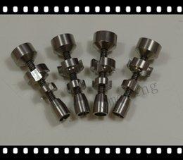 Wholesale 14mm mm adjustable titanium nail GR2 titanium nail we also offer quartz nail ceramic nail herb grinder titanium carb cap dabble