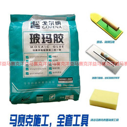 Wholesale Mosaic tile grouts special paste tile adhesive caulk combo glass rubber horse horse white glass glue
