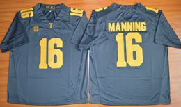 Hot New Style 2015 Peyton Manning 16 Limited College Football Jersey,Cheap Tennessee Volunteers Jersey grey size S-XXXL