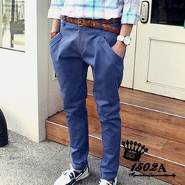 Wholesale-Hot! Cheap Shipping wholesale Newly Style Zipper Men's cotton pants new design Straight Jeans trousers