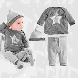 Retail new style 2016 fall and winter clothes baby boys girls child sports suit three suit (jacket + pants + hat)