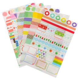 Wholesale 6pcs set Simple Life Calendar Paper Sticker Scrapbook Calendar Diary Planner Decor