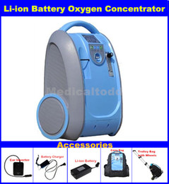 Wholesale Multi functional Li ion Battery Oxygen Concentrator for Medical Healthcare Home Car Travel Use Mini Portable O2 Generator Free shiping