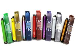 Torsion ii à vendre-Top Quality Vision Spinner 2 1650mAh Ego torsion 3.3-4.8V vision spin II batterie de tension variable pour cigarette électronique Clearomizer DHL