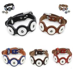 Promotion bracelet en cuir véritable 2016 mode NOOSA DIY bijoux Noosa Bracelet réglable Chunk Snap bouton Véritable bracelet bracelet en cuir bijoux interchangeables 5 couleurs