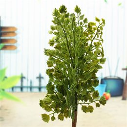 Wholesale Brand New Top Quality Gingko Biloba Fake Artificial Plant Leave Foliage Home Garden Party Office Decor order lt no track
