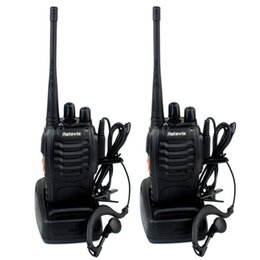 Wholesale 2pcs Retevis H Walkie Talkies Transmitter Receiver UHF MHz W CH Single Band Portable Way Radio SMA F Free earpiece A9105A