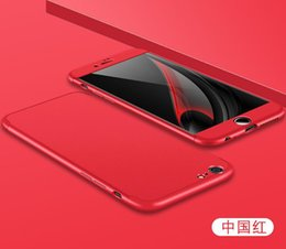 Ultra-thin 360 full protective matte back cover For iPhone 7   7Plus  6 6S Plus cases plating PC china red 3in1 moblie case gold