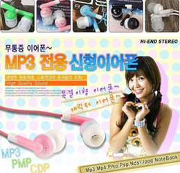 candy color New Universal Black cheap Headphone 3.5mm Earbud Earphone For MP3 Mp4 PSP Players metting use earphone 500pcs lot