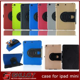 360 Degree Rotating With Stand TPU+PC Heavy Duty Cover Robot Case Shock Proof For iPad Air Mini 50pcs up