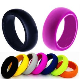 Wholesale Multi color Wedding Band Silicone Rings For Sports Enthusiast