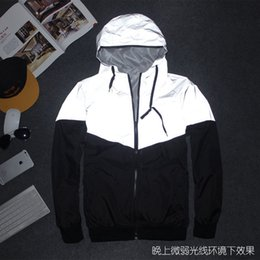 Fall-Autumn Winter Night Hiphop Jacket Reflective Jacket Windbreaker Men women Trench Coat jacket