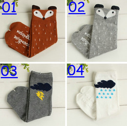 2016 new girls cotton fox stocking socks baby animal fox leg warmers girls animal footwear leggings socks 20color choose free fedex ups ship