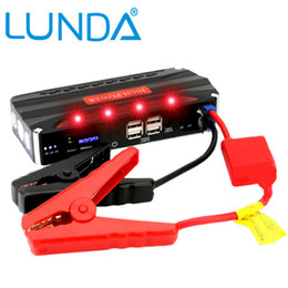 Wholesale LUNDA New Capacity mAh Car Jump Starter Mini Portable Emergency Battery Charger for Petrol Diesel Car