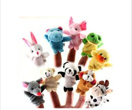 Wholesale 2016 hot style manufacturer High quality Cartoon toy doll baby animal finger puppets toys
