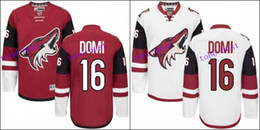Free Shipping #16 Max Domi Jersey Authentic Arizona Coyotes Jersey Domi Ice Hockey Jerseys Cheap Garnet White Stitched
