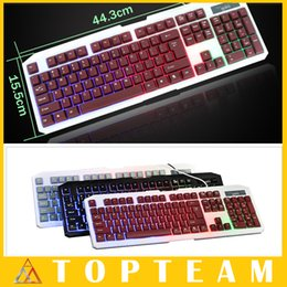 Wholesale Flash Light Game Keyboard Wired Mechanical LOL Dota colors Backlight LED Keyboards For Laptops PC Waterproof Mute Keyboards
