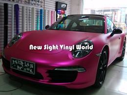 Premium Rose Matte Metallic Pink Vinyl Wrap Rose Pink Matte Metal Car Wrap Air Free Car Graphics