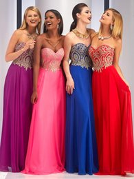 Wholesale Sweetheart Roses Prom Dresses - Gold Lace 2016 Prom Dresses Fuchsia Serenity Rose Quartz Cheap Bridesmaid Dresses Party Gowns Sweetheart Neck Chiffon Party Gowns